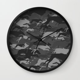 WEIMOUFLAGE GREY Wall Clock