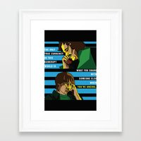 almost famous Framed Art Prints featuring When You're Uncool: Almost Famous by Margaret Andersen