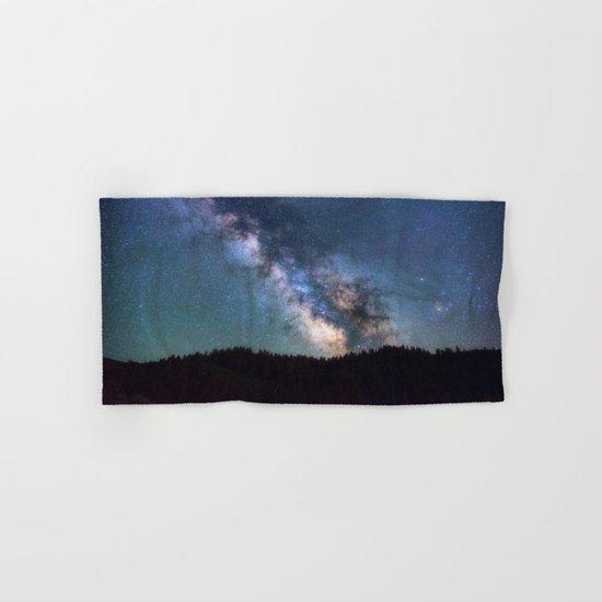 milky way night sky Hand & Bath Towel