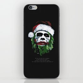 Be good. I will visit you on Christmas Eve ! iPhone Skin