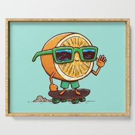 The Orange Skater Serving Tray