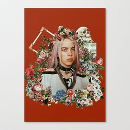 Billie Eilish Graphic Artwork Canvas Print