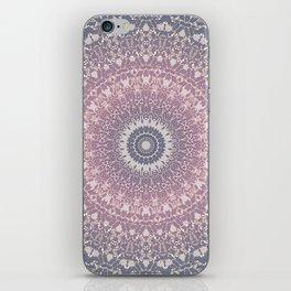 gray pink mandala iPhone Skin
