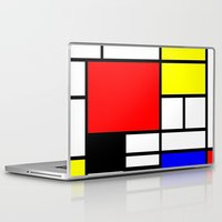 mondrian Laptop & iPad Skins featuring Mondrian by  Can Encin