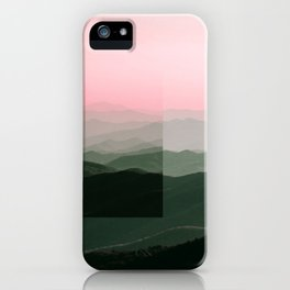 Pink Ridges iPhone Case