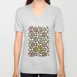 Floral Circuitry Unisex V-Neck