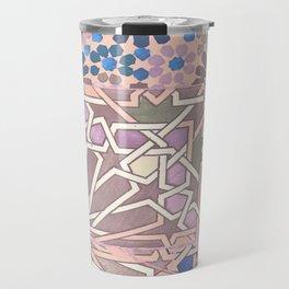 Pink moroccan pattern Travel Mug