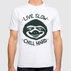 THE SLOW LIFE X-LARGE Mens Fitted Tee Ash Grey