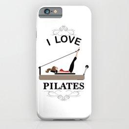 I love pilates iPhone Case