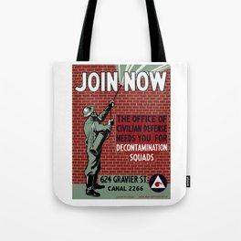 Join Civilian Defense -- WPA Tote Bag