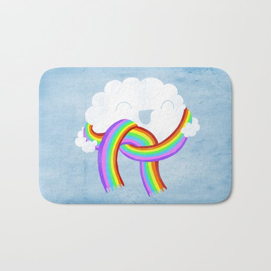 Mr clouds new scarf Bath Mat