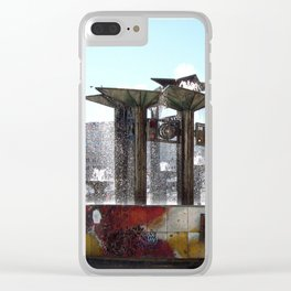 Colourful Berliner Fountain Clear iPhone Case