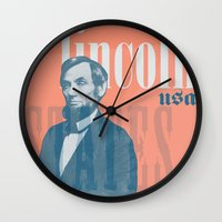 lincoln Wall Clocks featuring Lincoln by Thomas Official