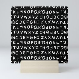ABC White on Black Mini Art Print