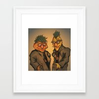 muppets Framed Art Prints featuring Boondock Muppets by Justin Rochelle