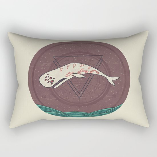 The Devil Roams These Waters Rectangular Pillow