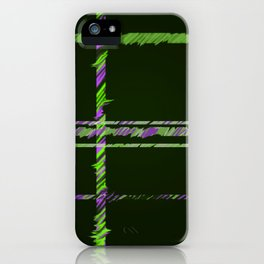Hunter Green and Brilliant Purple Plaid iPhone Case