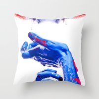 abyss Throw Pillows featuring ABYSS by Lola Montiel