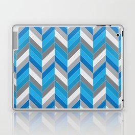 Harmaa ja sininen Laptop & iPad Skin