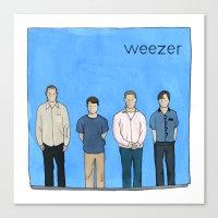 weezer Canvas Prints featuring Weezer by Michael Constantine
