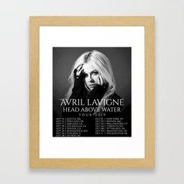 AVRIL LAVIGNE HEAD ABOVE WATER SEPT TOUR DATES 2019 KEMILING Framed Art Print