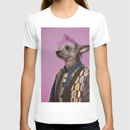 Punk Chinese Crested Dog T-shirt