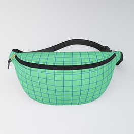 Peppermint Green and Blue Grid Fanny Pack