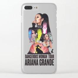 Dangerous Woman Tour Ariana G. Clear iPhone Case