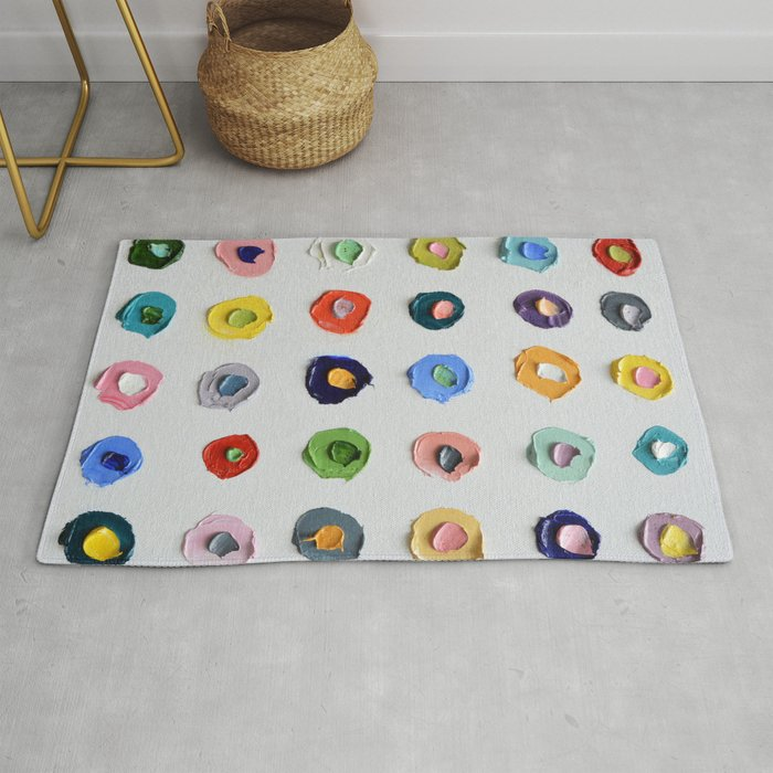 Concentric Polka Daubs Rug