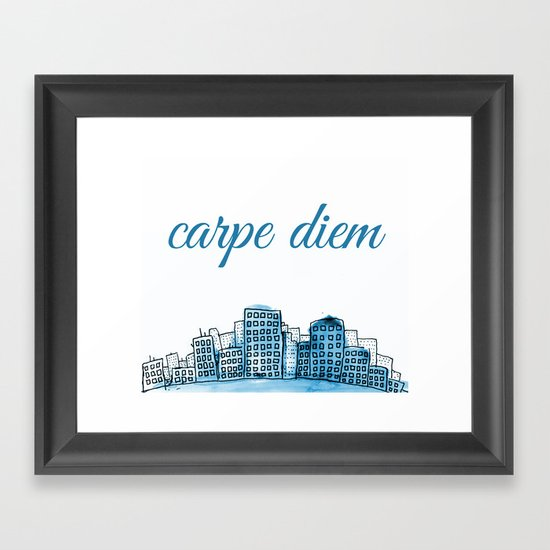 Carpe Diem Framed Art Print