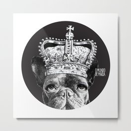 FRENCH BULLDOG FORNASETTI 1 Metal Print
