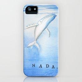 Nada - White Humpback Whale iPhone Case