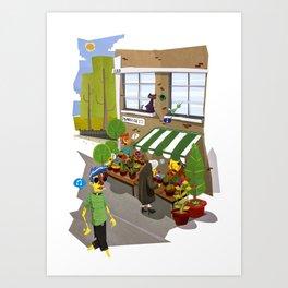 Columbia Rd. Flower Market Art Print