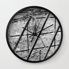 Shades of Fence Wall Clock