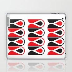 red & black loop pattern Laptop & iPad Skin