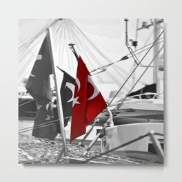Flag of Turkey - Selective Coloring Metal Print