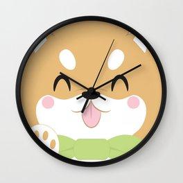 Shiba Inu Block Wall Clock