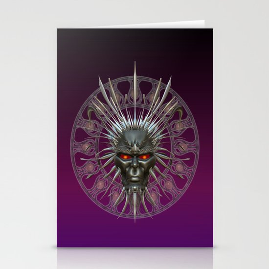 Face of the Demon King .. fantasy art Stationery Cards