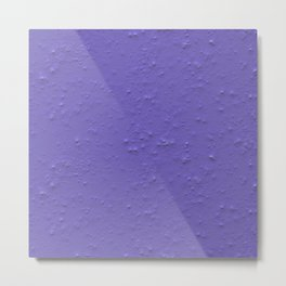 Violet Spray Plaster Texture Metal Print