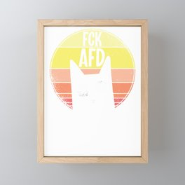FCK AFD cat cat lover cat gift Framed Mini Art Print