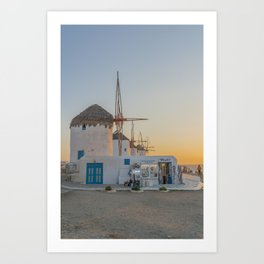 Mykonos Windmills by Pupina Art Print