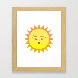 Lovely Sun Framed Art Print