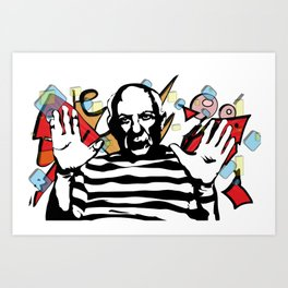 Picasso vector Art Print