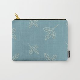 Blue cozy leaves for nice decor Carry-All Pouch
