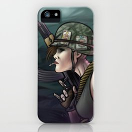 AK47 Soldier Girl iPhone Case