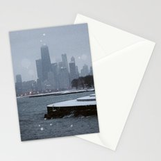 Chicago in the Snow Stationery Cards
