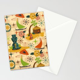 Mid Mod Tiki Stationery Cards