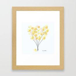 Spring Daisy Bouquet Framed Art Print