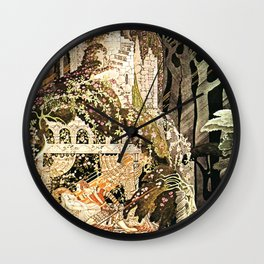 "Kay Nielsen Fairytale Illustration ""Sleeping Beauty"" Wall Clock"
