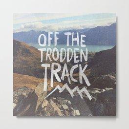 Trodden Track Metal Print